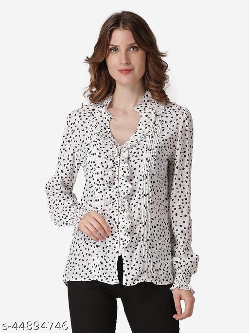 Polka Dot Ruffled Shirt