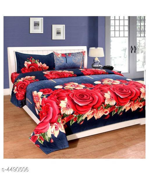Trendy Polycotton Double Bedsheet