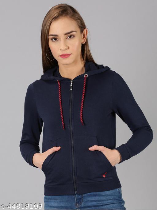 UrGear Full Sleeve Solid Women Navy Sweatshirt
