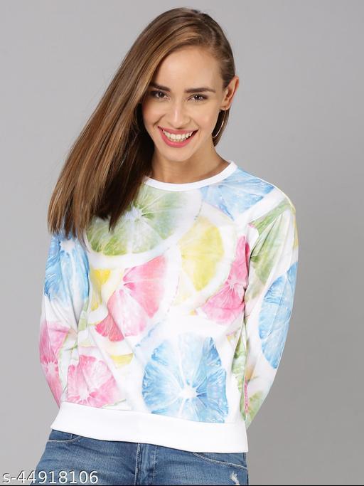 UrGear Full Sleeve Printed Women MultiColor Sweatshirt