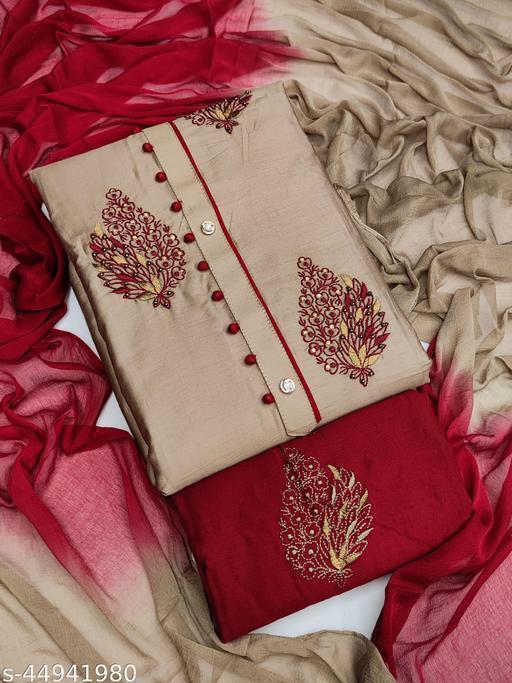 Bhagyalaxmi Unstich Dress Material With bottom Work