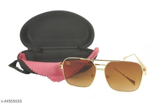 Adhvik Unisex Multicolor Square Glass Full Metal Rim Stylish Look Uv Rays Protected Sunglasses