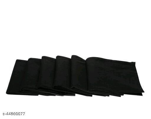 Men's Cotton Black Handkerchief (Pack of 6)