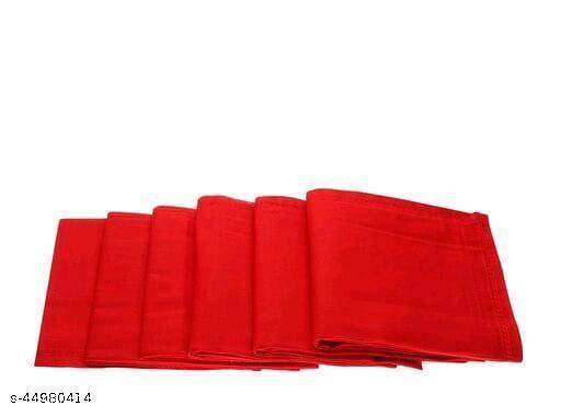 Men's Cotton Red Handkerchief (Pack of 6)