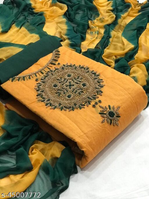*Moddal silk Hand work top with lining