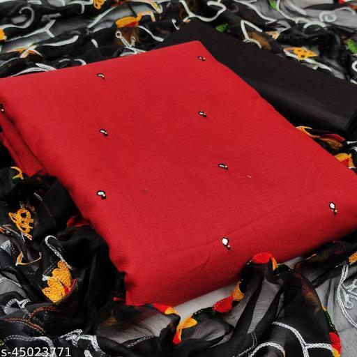 Anokhi Designer Unstich Mirror Work Dress Materials With Embroidery Work Duppta