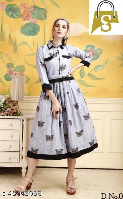 Light Blue Western Designe Dress