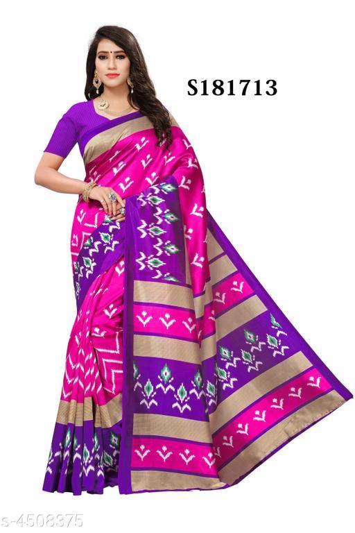 Stylish Mysore Silk Printed Saree