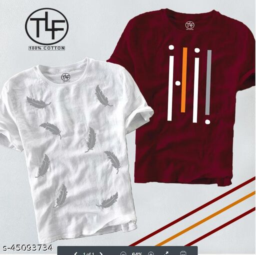 URBAN COTTON TSHIRT FOR MAN  (pack of 2)