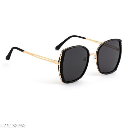 Royal Son Oversized Polarized Sunglasses For Women And Girls Black - CHIWM00119-C1