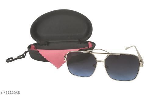 Stylewell Unisex Multicolor Square Glass Full Metal Rim Stylish Look Uv Rays Protected Sunglasses