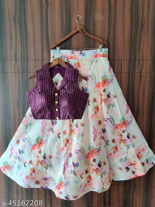 digital printed banglori satin for new design women Skirt