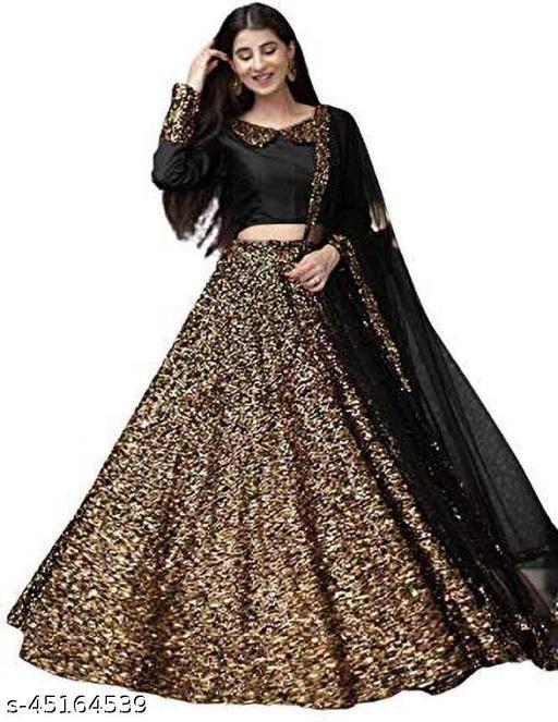 96nu fashion Woman's New Fashion Solid Lehenga Choli