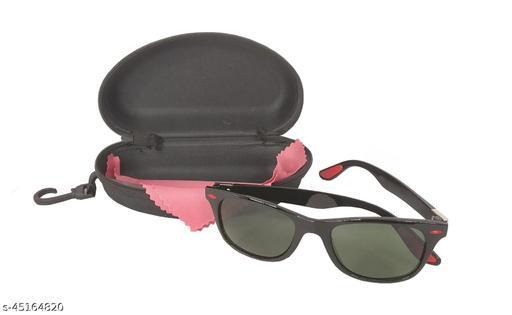 Utkarsh Unisex Plastic Square Full Rim Green Color Polarized Stylish Look Uv Rays Protected Sunglasses