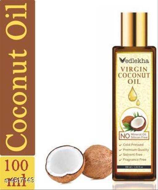 Vedlekha 100% Pure Virgin Coconut Oil For Skin, Hair, Massage & Aromatherapy Hair Oil