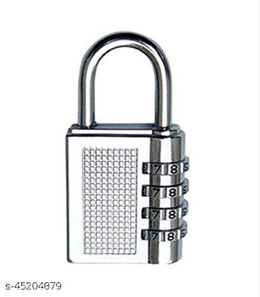 4-Digit Safe PIN Hand Bag Shaped Combination Padlock Lock (Color May Vary)