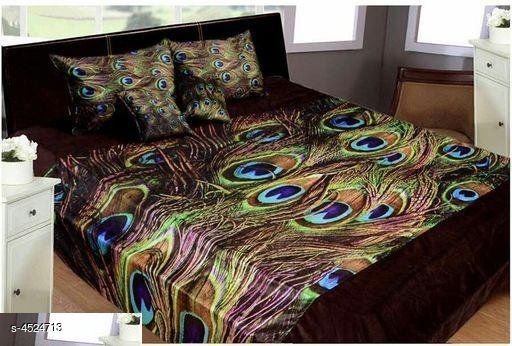Jia Stylish Printed King Size Double Bedsheets