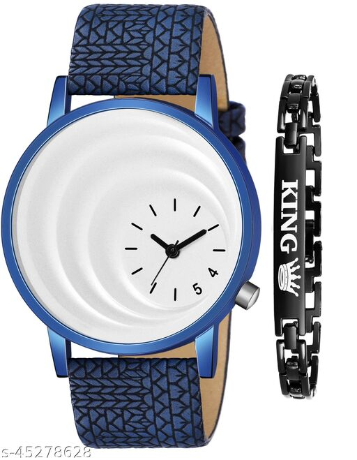 Men Watch With Free Breslet