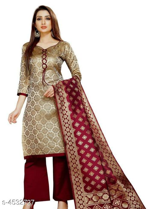 Attractive Banarasi Silk Suit