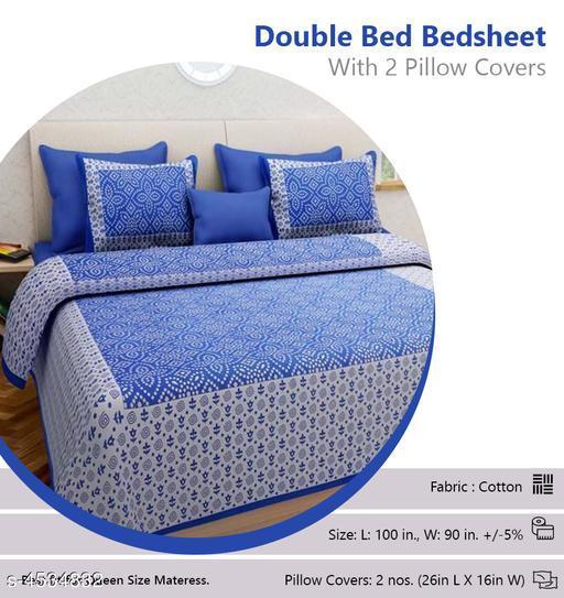 Attractive Cotton Double Bedsheet