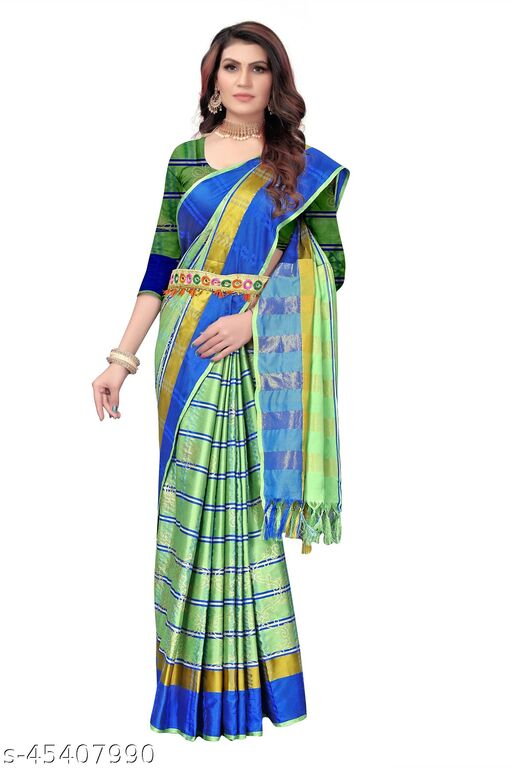 Latest new desinger Silk Floral printed with Foil print saree
