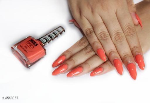 Nails Miss  Nails Nail Polish  *Product Name* Miss Nails Nail Polish  *Brand Name* Miss Nails  *Product Type* Nail Polish  *Capacity* 10 ml  *Shade* Pro38  *Package Contains* It Has 1 Pack Of Nail Polish  *Sizes Available* Free Size *    Catalog Name: Miss  Nails Nail Polish CatalogID_658291 C51-SC1244 Code: 431-4548367-