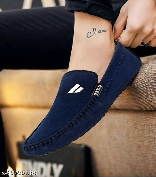 Modern Trendy Men Blue Casual Driving Unique Graceful Men Loafers Shoes