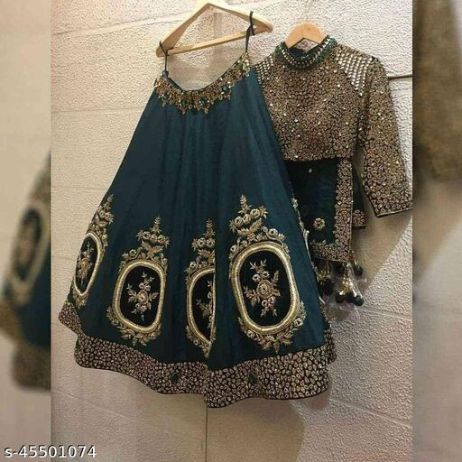 Colored Partywear Designer Gota Work Lehenga