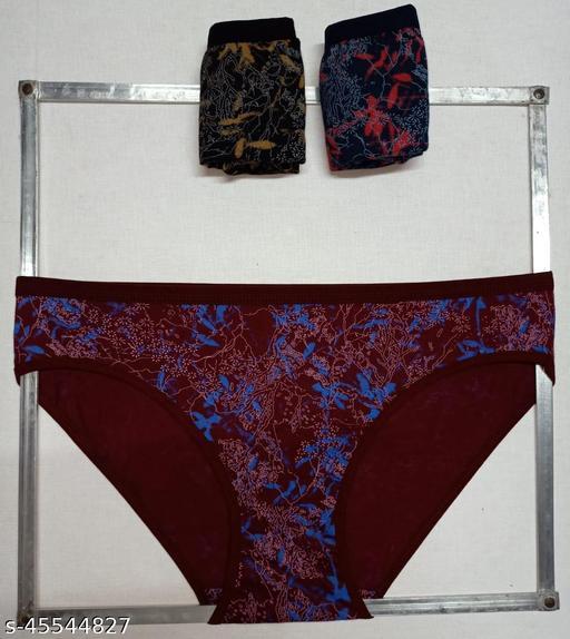 Women Bikini Multicolor Cotton Panty (Pack of 3)