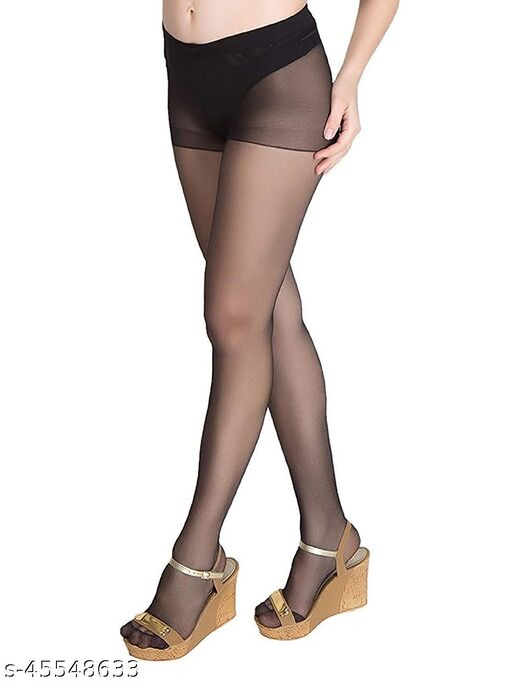 Women & Girl's Full Length High Waisted Pantyhose Stockings (Pack of 1)