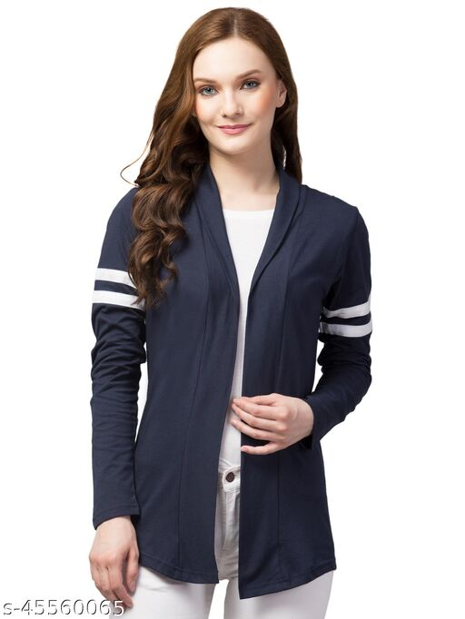 Solid Trendy Sleeve Design Stylish Shrung for women