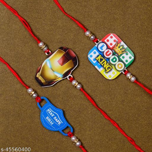 Rakhi For Kids Fancy Designer Rakhi Combo of 3 For Brother Bhaiya Bhai