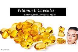 Vitamin E Hair Serum Hair Regrowth Hair Fall Control Oil  Capsules Golden
