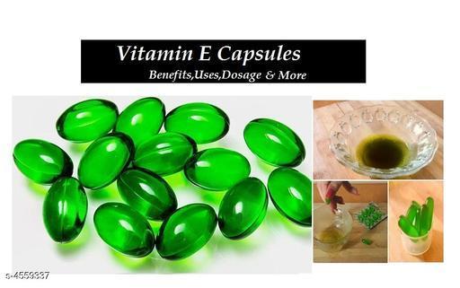 Vitamin E Hair Serum Hair Regrowth Hair Fall Control Oil Capsules Green