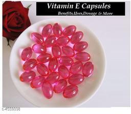 Vitamin E Hair Serum Hair Regrowth Hair Fall Control Oil  Capsules Pink