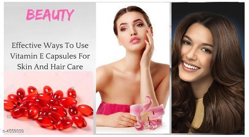 Vitamin E Hair Serum Hair Regrowth Hair Fall Control Oil  Capsules Red