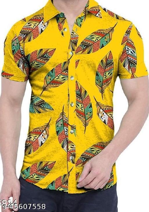 Kaal Bhairav Cotton Linen Digital Printed Readymade Shirt