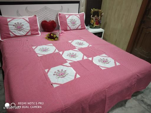 Eva Stylish Cotton 100 in x 90 Bedsheet