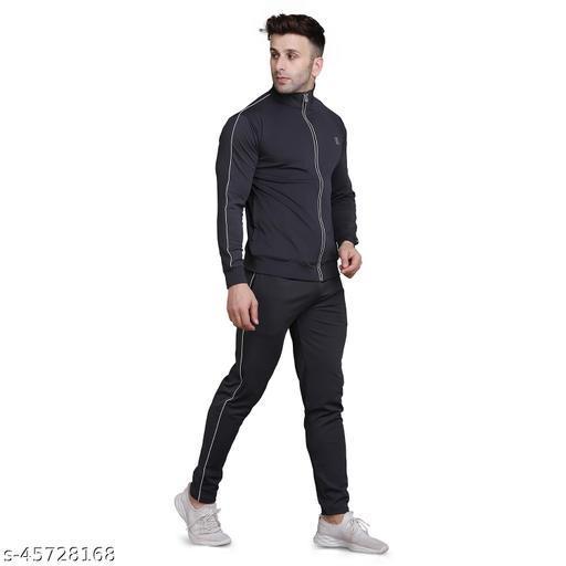 PRAUME Men's Polyester Lycra Track Suit