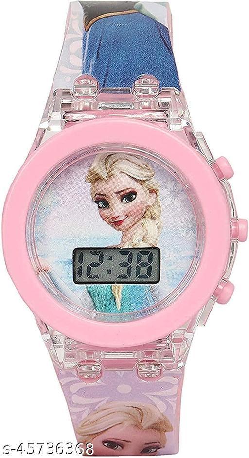 Frozen Kids Analog Led Glowing Light Watch for Kids Set of - 1