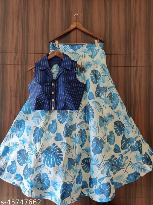 Fancy Banglori silk Lehenga Choli printed shirts for women amd gril wedding summer