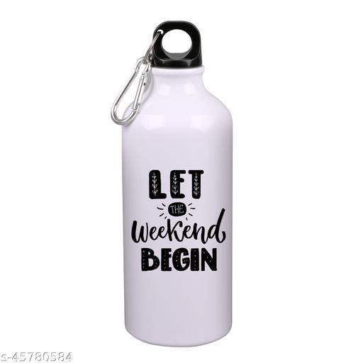 RADANYA Weekend Begin Printed Sipper Water Bottle Sports Water Bottle Sleek Insulated For Gym, School, Sports, Yoga
