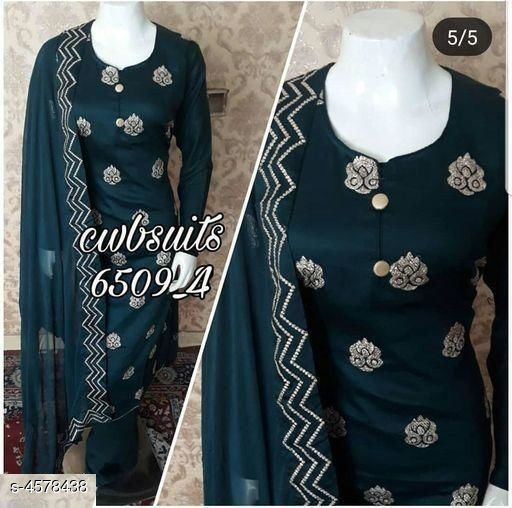 Beautifully Designed Jam Cotton Unstitched Suits & Dress Materials