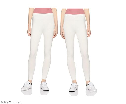 Vardhan Legging Set of 2 Color  Off WhiteFree Size