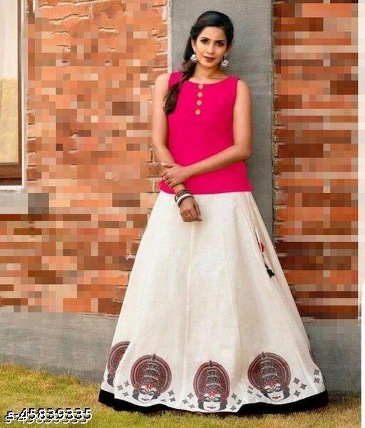 Sweet look Trending Skirt~Top