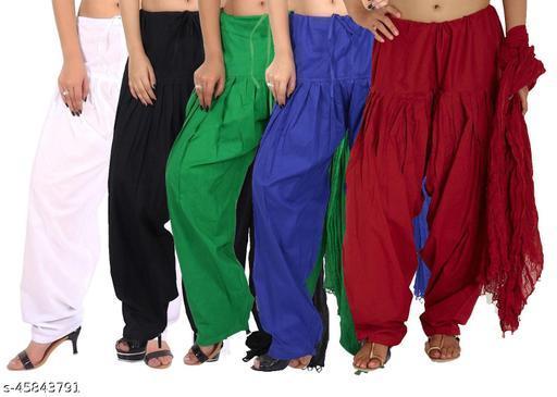 Set of 5 Women's Cotton Patiala Salwar Free Size