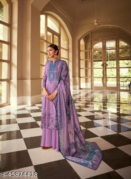 Cotton Silk Digital Print Dress Material