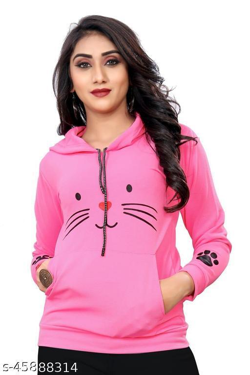 VARNI HUB Fashionable Women's Hoodies (Pink)