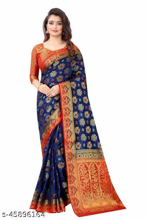perfect wear cotton silk multicolour saree.(kgf)