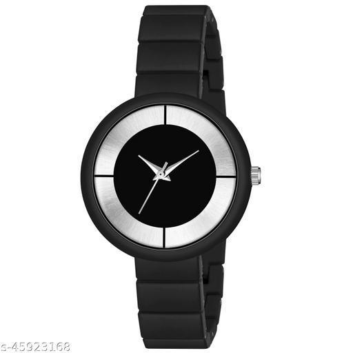 New Fashion Round Dial Watch - Csamon_33_Black
